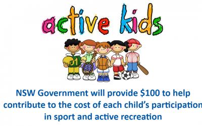 Active Kids $100 Voucher