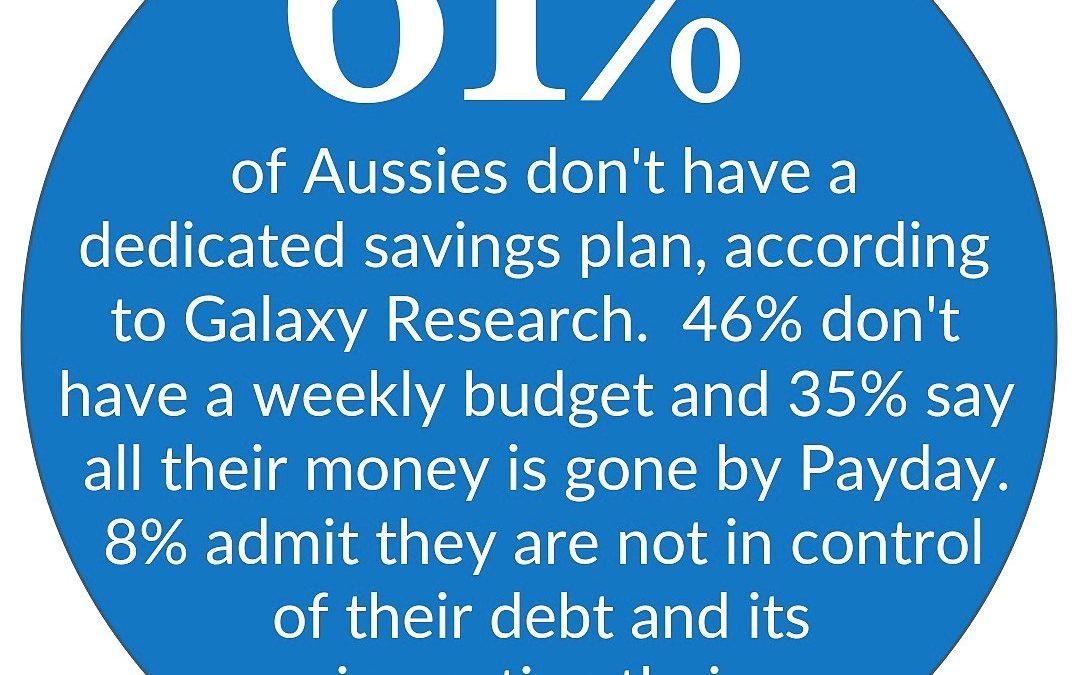 61% of Australian's Don't Have a Savings Plan